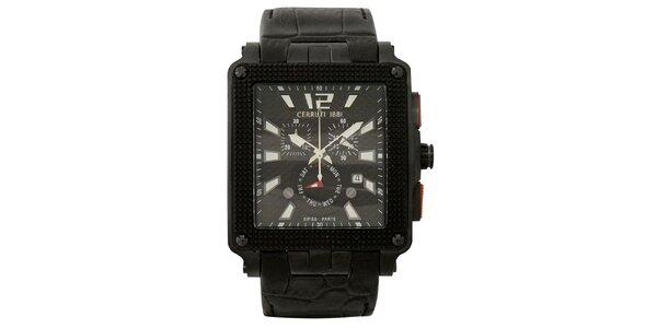 Pánske multifunkčné čierno-biele hodinky Cerruti 1881