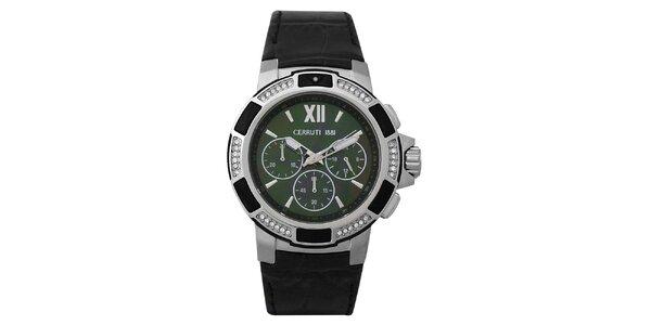 Dámske oceľové hodinky so zeleným ciferníkom Cerutti 1881