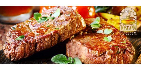 Hovädzí steak s grilovanou zeleninou