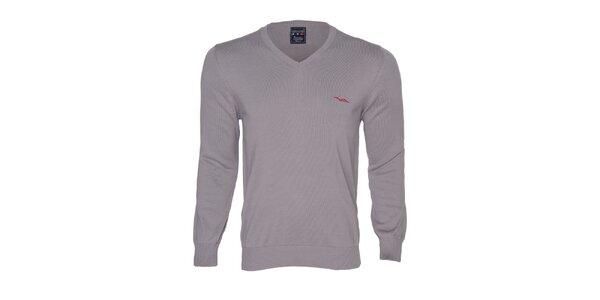 Pánsky šedý sveter s logom Giorgio di Mare