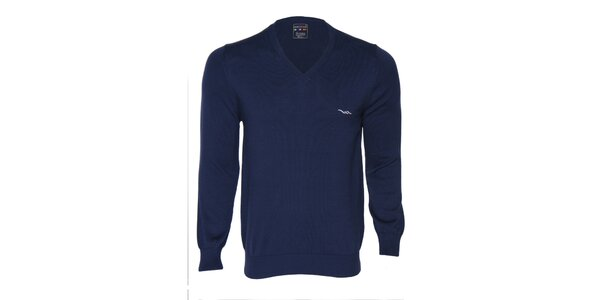 Pánsky tmavo modrý sveter s logom Giorgio di Mare