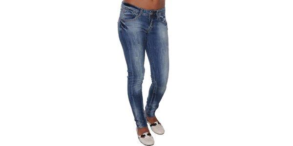 Dámske šisované džínsy s trikolórou Giorgio di Mare