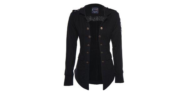 Dámsky čierny vojenský kabátik Giorgio di Mare