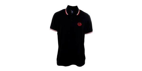 Pánske tmavo modré polo tričko Polo Club s červenou výšivkou na hrudi