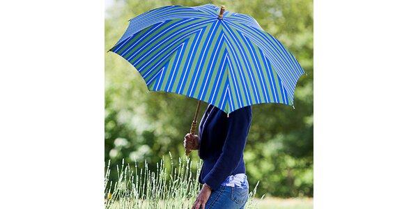 Dámsky pruhovaný modro-zelený dáždnik Alvarez Romanelli
