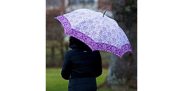 Dámsky dáždnik s vintage fialovým vzorom Alvarez Romanelli