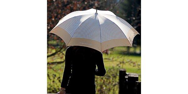 Dámsky béžový dáždnik s kohúťou stopou Alvarez Romanelli
