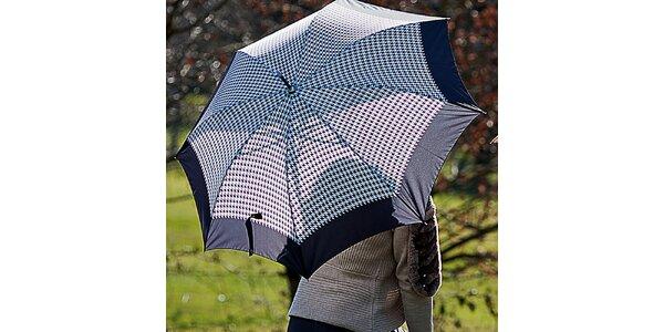 Dámsky čierny dáždnik s kohúťou stopou Alvarez Romanelli
