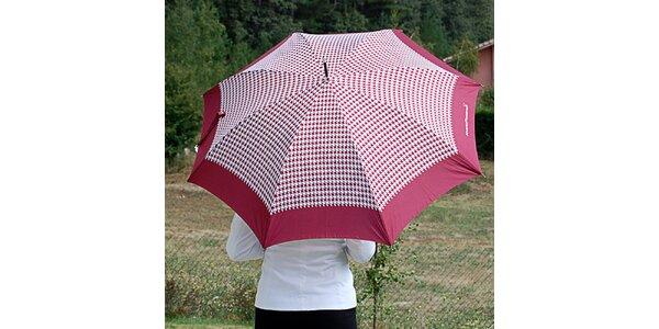 Dámsky burgundy dáždnik s kohúťou stopou Alvarez Romanelli