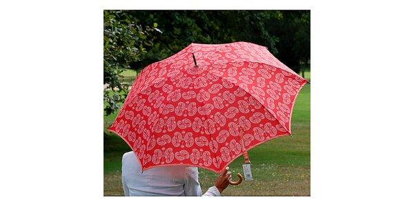 Dámsky korálový dáždnik Alvarez Romanelli s bielou vzorkou