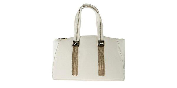 Dámska biela kabelka s kovovými strapcami Versace Jeans
