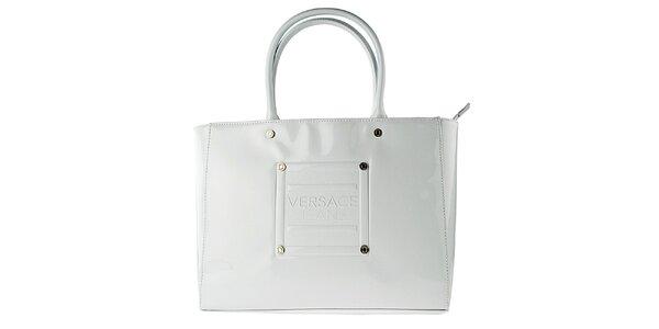 Dámska lakovaná biela kabelka Versace Jeans