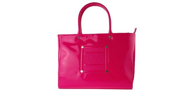 Dámska lakovaná ružová kabelka Versace Jeans
