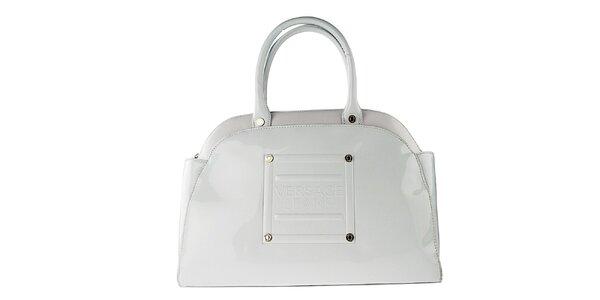 Dámska oblá biela lakovaná kabelka Versace Jeans
