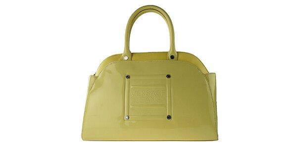 Dámska žlto-zlatá lakovaná kabelka Versace Jeans