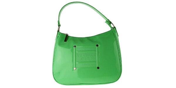 Dámska zelená lakovaná kabelka Versace Jeans