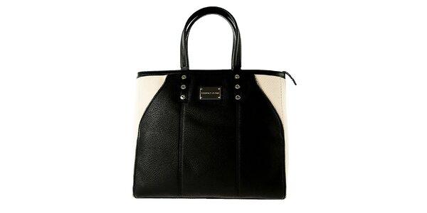 Dámska čierno-béžová kabelka Versace Jeans