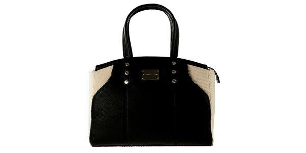 Dámska čierno-krémová kabelka Versace Jeans