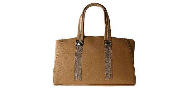 Dámska hnedá obdĺžniková kabelka Versace Jeans