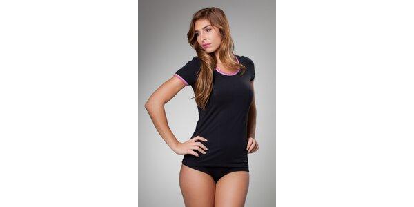 Dámske čierne podvliekacie tričko Frankie Morello