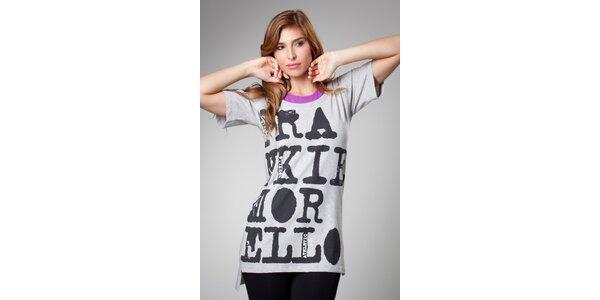Dámske šedé maxi tričko Frankie Morello