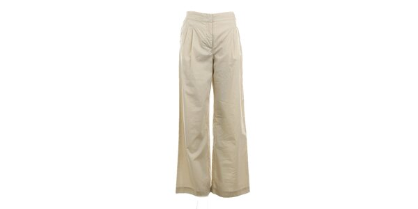 Dámske béžové široké nohavice Max Mara