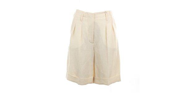 Dámske krémovo biele šortky Max Mara