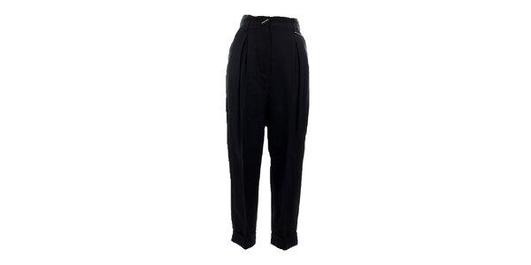 Dámske čierne turecké nohavice s prackou Max Mara