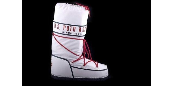 Dámske biele snehule U.S. Polo