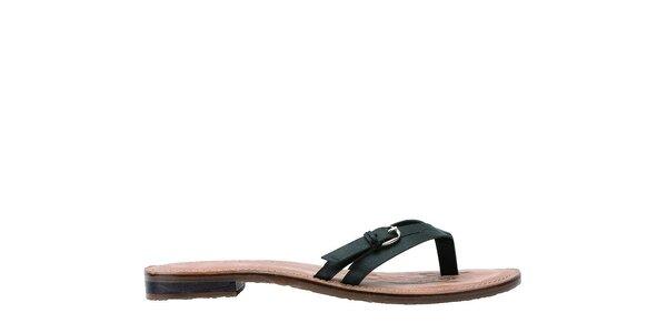 Dámske čierne kožené papuče U.S. Polo