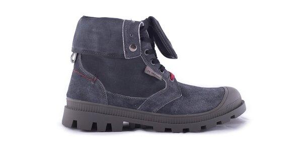 Pánske tmavo šedé kotníčkové topánky U.S. Polo