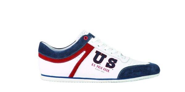 Pánske bielo-modré tenisky U.S. Polo