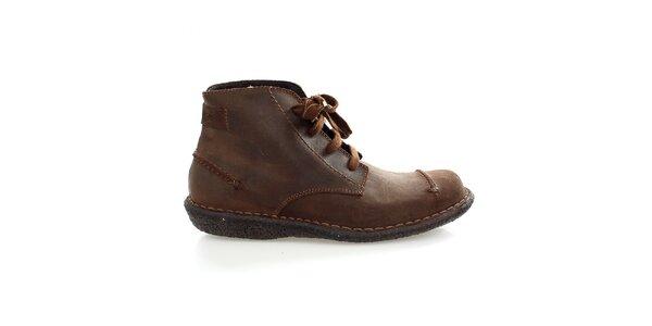 Pánske hnedé členkové topánky Levis