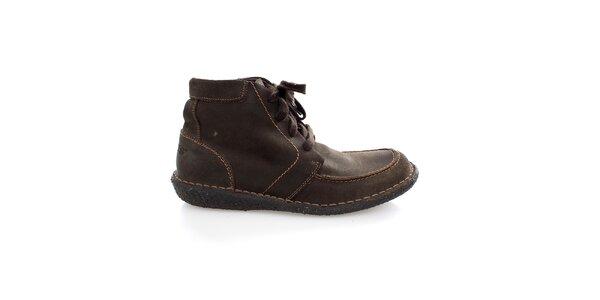 Pánske členkové hnedé topánky Levis
