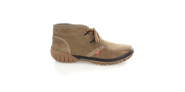 Pánske členkové béžové topánky Levis