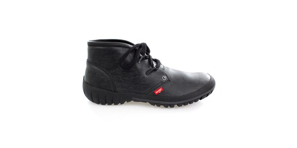 Pánske členkové čierne topánky Levis