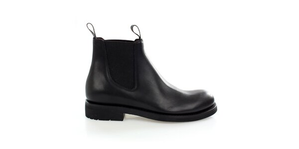 Pánske čierne kožené chelsea boots Levis