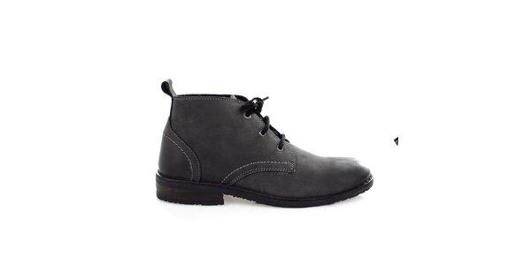 Pánske kožené čierne topánky Levis