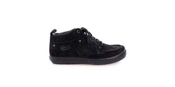 Pánske čierne semišové topánky Levis
