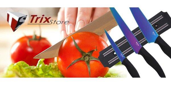 24,90 eur za sadu titánových nožov s magnetickým držiakom