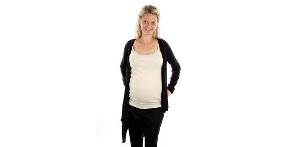 Dámsky čierny asymetrický svetrík Next Maternity