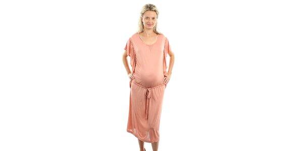 Dámske lososovo ružové tehotenské šaty Next Maternity