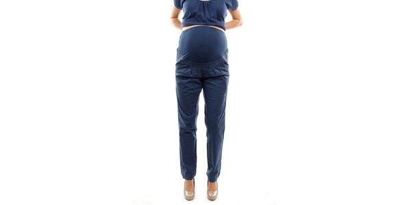 Dámske modré tehotenské nohavice s pružným úpletom Next Maternity