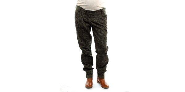 Dámske tehotenské khaki nohavice s potlačou Next Maternity