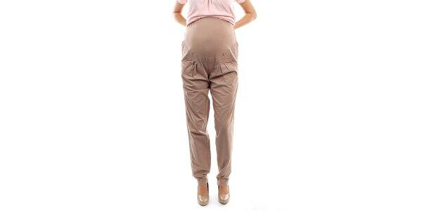 Dámske béžové tehotenské nohavice s pružným úpletom Next Maternity