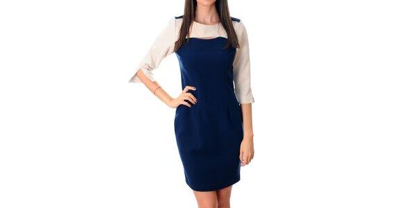 Dámske modro-biele šaty Ribelli