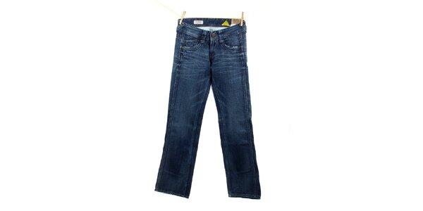 Dámske modré komfortne strihané džínsy Pepe Jeans