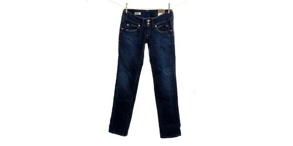 Dámske tmavo modré rovno strihané džínsy Pepe Jeans
