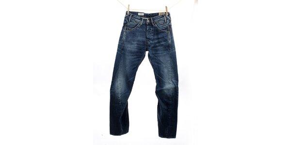 Pánske modré džínsy so zalomenými nohavicami Pepe Jeans