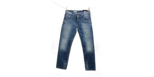Pánske modré džínsy s šisováním Pepe Jeans